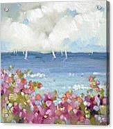Nantucket Sea Roses Acrylic Print by Joyce Hicks