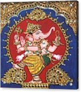 Narthana Ganapathi Acrylic Print by Jayashree