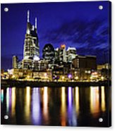 Nashville Skyline Acrylic Print by Lucas Foley