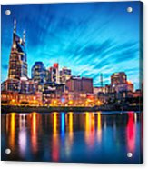 Nashville Twilight Acrylic Print by Lucas Foley