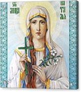 Natalia The Martyr Acrylic Print by Natalia Lvova