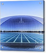 National Centre For The Performing Arts Beijing China Sunset Acrylic Print by Colin and Linda McKie