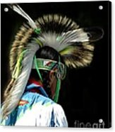 Native American Boy Acrylic Print by Kathleen Struckle