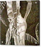 Native Woman Acrylic Print by Debi Starr