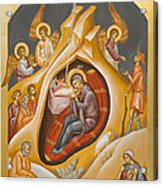 Nativity Of Christ Acrylic Print by Julia Bridget Hayes