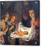 Nativity Scene Study Acrylic Print by Donna Tucker