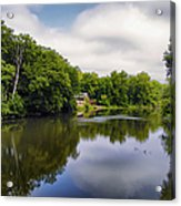Nature Center On Salt Creek Acrylic Print by Thomas Woolworth