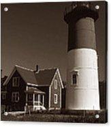 Nauset Lighthouse Acrylic Print by Skip Willits