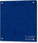Navy Blue Abstract Acrylic Print by Frank Tschakert