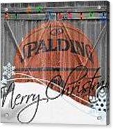 Nba Basketball Acrylic Print by Joe Hamilton