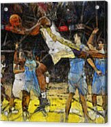 NBA Acrylic Print by Georgi Dimitrov