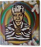 Nelson Mandela Acrylic Print by Tony B Conscious