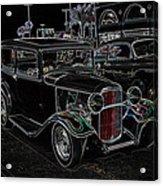Neon Car Show Acrylic Print by Steve McKinzie