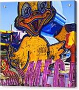 Neon Duck Acrylic Print by Garry Gay