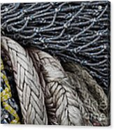 Nets And Knots Number Two Acrylic Print by Elena Nosyreva