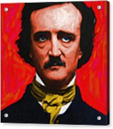 Nevermore - Edgar Allan Poe - Painterly Acrylic Print by Wingsdomain Art and Photography