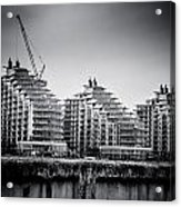 New Apartments In Battersea Acrylic Print by Lenny Carter