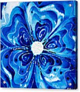 New Blue Glory Flower Art - Buy Prints Acrylic Print by Sharon Cummings