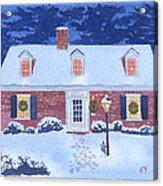 New England Christmas Acrylic Print by Mary Helmreich