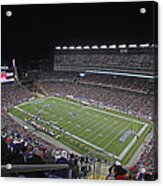 New England Patriots And Tom Brady Acrylic Print by Juergen Roth