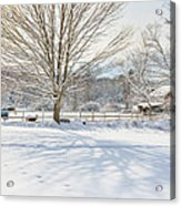 New England Winter Acrylic Print by Bill Wakeley