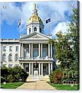 New Hampshire State Capitol Acrylic Print by Olivier Le Queinec
