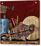 New Life Red Acrylic Print by Sylvia Thornton
