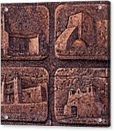 New Mexico Churches Acrylic Print by Ricardo Chavez-Mendez