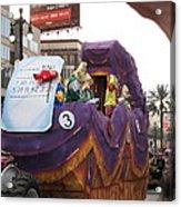 New Orleans - Mardi Gras Parades - 121228 Acrylic Print by DC Photographer