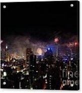 New Year Fireworks IIi Acrylic Print by Ray Warren