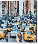 New York 1 Acrylic Print by Yury Malkov