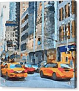 New York 2 Acrylic Print by Yury Malkov