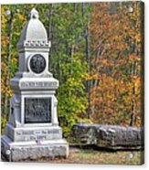 New York At Gettysburg - 149th Ny Infantry Autumn Mid-afternoon Culp's Hill Acrylic Print by Michael Mazaika
