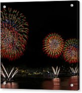 New York City Celebrates The Fourth Acrylic Print by Susan Candelario