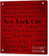 New York City Acrylic Print by Denyse and Laura Design Studio