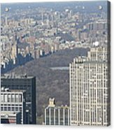 New York City - View From Empire State Building - 121211 Acrylic Print by DC Photographer
