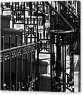 New York City Wrought Iron Acrylic Print by Rona Black