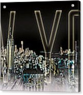 New York Digital-art No.2 Acrylic Print by Melanie Viola