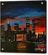 New York In Glory Days Acrylic Print by Denisa Laura Doltu