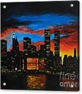 New York In The Glory Days Acrylic Print by Alexandru Rusu