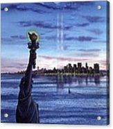 New York  Acrylic Print by John YATO