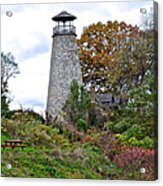 New York Lighthouse Acrylic Print by Frozen in Time Fine Art Photography