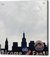 New York Mets Skyline Acrylic Print by Rob Hans
