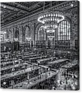 New York Public Library Main Reading Room X Acrylic Print by Clarence Holmes