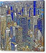 New York Skyline 20130430v2 Acrylic Print by Wingsdomain Art and Photography