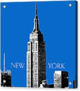New York Skyline Empire State Building - Blue Acrylic Print by DB Artist