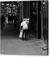 New York Street Photography 26 Acrylic Print by Frank Romeo