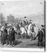 New York: Washington, 1783 Acrylic Print by Granger