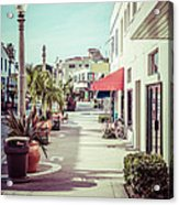 Newport Beach Main Street Balboa Peninsula Picture Acrylic Print by Paul Velgos