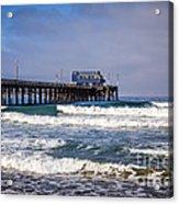 Newport Beach Pier In Orange County California Acrylic Print by Paul Velgos